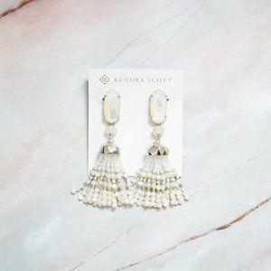 Kendra Scott Dove Earrings White Wedding Bridal